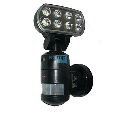 bewegliche und nachlaufende automatisch-schwenkbare Fotofalle Überwachungskamera Kamera mit Bewegungsmelder + LED-Flutlicht-Beleuchtung-Strahler + SD-Aufzeichnung