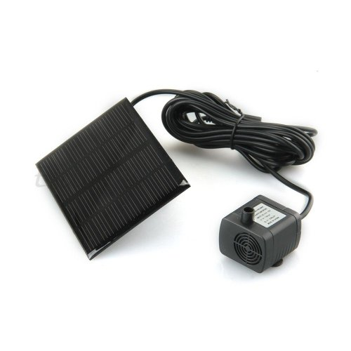 Solar Panel Powered Water Floating Pump Fountain Pool Garden Plants Watering Kit