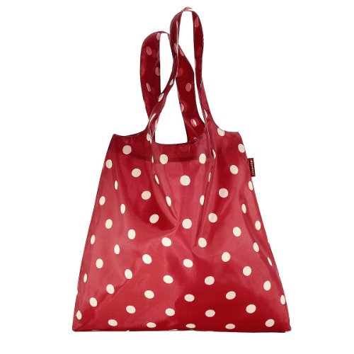 Reisenthel Mini Maxi Shopper, Borsa per la Spesa, Shopping Bag, ruby dots / rosso a pois bianchi, AT3014