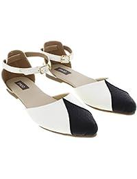 PAIO Women's White And Black Ballet Flats 6.5 UK