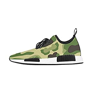 Cariben Camouflage Men's Lace-up Running Shoes Sports Shoes Sneakers,White