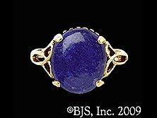buy Holy Trinity Celtic Triskele Power Of Three Lapis Lazuli Gemstone Ring In 14G Gold