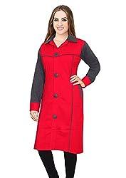 Miss Maria Women's Woollen Kurta (Red Grey X-Large)