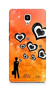 Amez designer printed 3d premium high quality back case cover for Xiaomi Mi 4 (Hearts from boy)