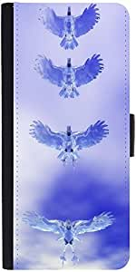 Snoogg Eagle Z Graphic Snap On Hard Back Leather + Pc Flip Cover Sony Xperia Z2