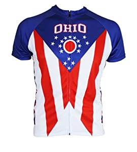 Ohio Flag Cycling Jersey by Hill Killer Apparel