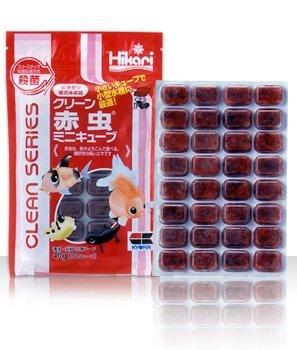 【冷凍飼料】 クリーン赤虫 ミニキューブ 40g 3枚セット