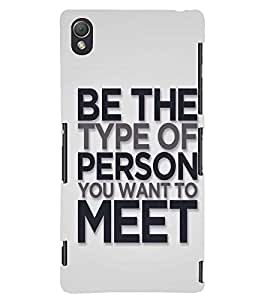 printtech Person Types Back Case Cover for Sony Xperia Z3::Sony Xperia Z3 D6653 D6603