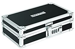 Vaultz Locking Mini Cash Box with Tray 8.5 x 2.75 x 5.5 Inches Black (VZ00304)