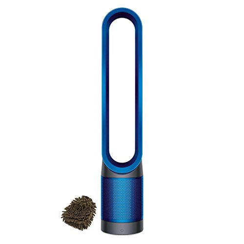 Dyson Pure Cool Link Air Purifier, Blue, HEPA Filter, Tower (Complete Set) w/ Bonus: Premium Microfiber Cleaner Bundle
