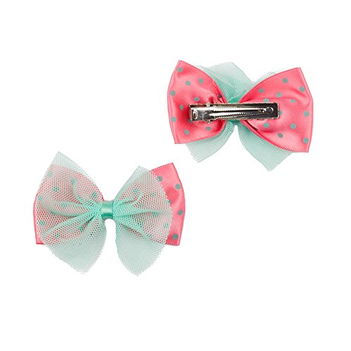 mytoptrendzr-girls-bow-beak-clip-net-and-polka-dot-bow-alligator-hair-clips-coral-peach-and-aqua