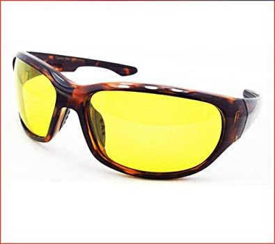 TAC Polarized Yellow lens sunglasses for cycling, motorcycle riding, running, shooting, hunting and night driving. Free Microfiber Cleaning Case Included.