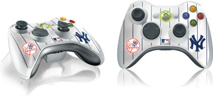 Skinit New York Yankees Home Jersey Vinyl Skin for 1 Microsoft Xbox 360 Wireless Controller