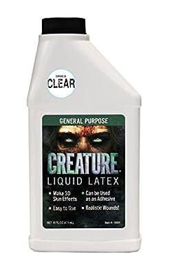 Creature Liquid Latex - General Purpose Professional Special Effects Liquid Latex - 16oz - Dries CLEAR