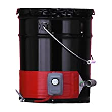 BriskHeat DHCS10 DHCS Standard Heavy Duty Metal Pail Heater, Fits 5-Gallon Pails, 2-Layer Reinforced Silicone Rubber, W x L: 4 x 35-Inch, Diameter: 11.1-Inch, 120VAC