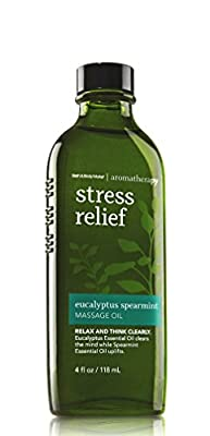 Bath & Body Works Aromatherapy Stress Relief Eucalyptus Spearmint Massage Oil 4 Fl Oz