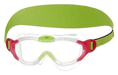 Speedo Sea Squad Mask JU Occhialino Bambino, Pink/Green