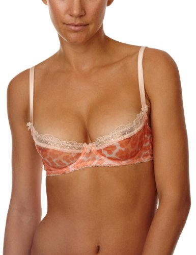 Mimi Holliday Meringue Plunge Bra Full Cup Women's Bra Peach/Coral 32D