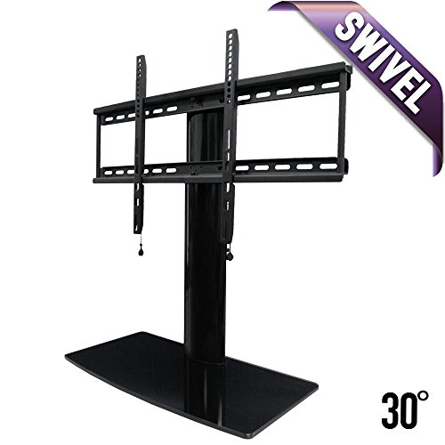 universal tv stand for tv with swivel and height adjustment new ebay. Black Bedroom Furniture Sets. Home Design Ideas