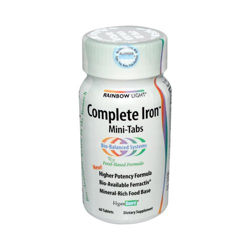 Rainbow Light Complete Iron System Food-Grown Iron Supplement Tablets  60 Count Bottle (Iron Supplement For Women compare prices)