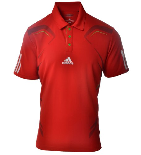 Adidas Mens Climacool Barricade Tennis Polo Shirt - Red - O04989