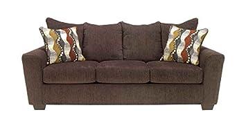 Chenille Sofa in Walnut