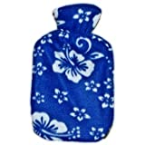 Warm Tradition BLUE ORCHID Fleece Hot Water Bottle Cover - COVER ONLY- Made in USA