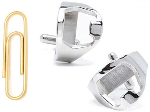 Stainless Steel Bottle Opener Cufflinks With Gold Stainless Steel Paper Clip Money Clip