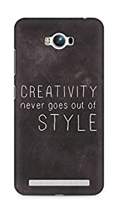 AMEZ creativity never goes out of style Back Cover For Asus Zenfone Max ZC550KL