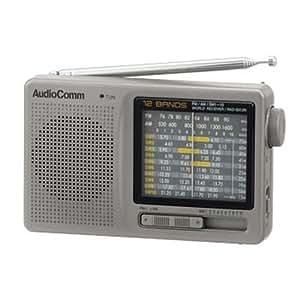 AudioComm 12バンド 株・競馬ハンディたんぱラジオオーディオコム RAD-S512N(07-7956)