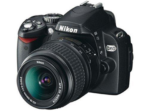 Nikon D60 SLR-Digitalkamera (10 Megapixel) Kit AF-S DX 18-55 Objektiv