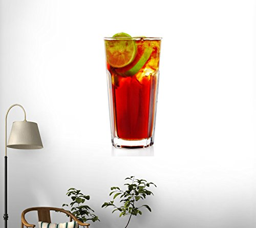 Long Island Iced Tea Cocktail Wall Decal - 24 Inches H X 15 Inches W - Peel And Stick Removable Graphic