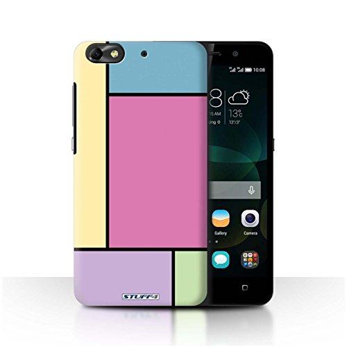 Custodia/Cover Rigide/Prottetiva STUFF4 stampata con il disegno Piastrelle Pastello per Huawei G Play Mini - 5 Piastrelle/Rosa