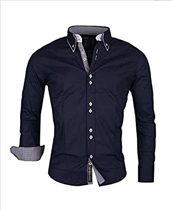 Carisma Limited Edition Mens Double Collar Shirt Navy