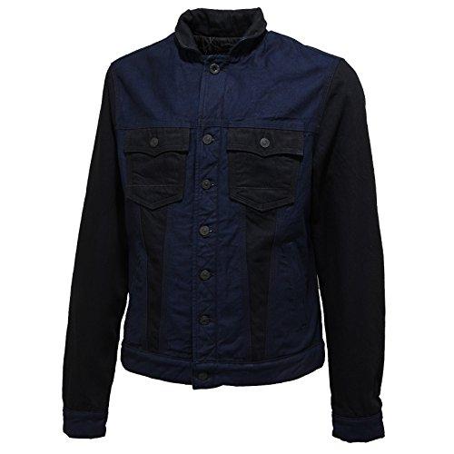 8196L giacca jeans uomo blu nera CYCLE giacche jackets coats men [L]