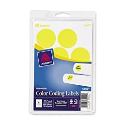 Avery Removable Labels, 1-1/4\