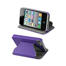 buy Reiko Fitting Case Horse Skin Texture For Iphone 4 - Retail Packaging - Purple
