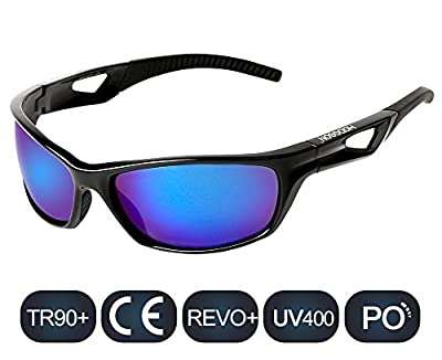 HODGSON Sports Polarized Sunglasses for Men or Women, UV400 Protection Unbreakable Sports Glasses for Cycling, Riding, Driving, Running, Golf and Other Outdoor Activities