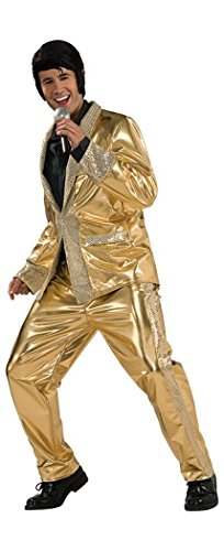 Deluxe Elvis Gold Lame Suit Costume - Large - Chest Size 42-44