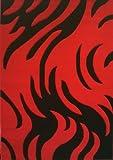 Modern Area Rug 8 Feet X 10 Feet 6 Inch Design # Geo 170 Red