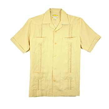 Yellow-Pleated Guayabera by LocoStyle