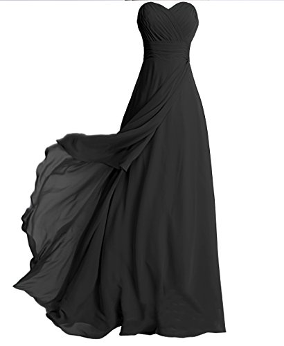 Fashion Plaza Strapless Bridesmaid Formal Evening Cocktail Party Dress D0072 (Us4, Black)