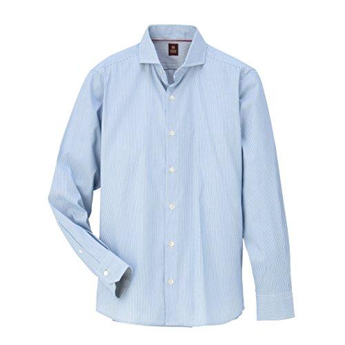 (タケオ キクチ)TAKEO KIKUCHI リバーシブルストライプホリゾンタルシャツ ブルー系(391) 05(3L)