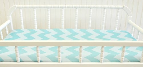 New Arrivals Zig Zag Changing Pad Cover, Aqua