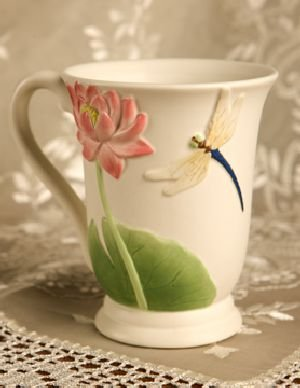 Dragonfly & Waterlily Coffee Mug