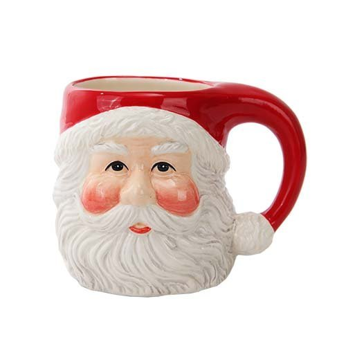 Pacific Trading Christmas Santa Claus Ceramic Drinking Mug Holiday