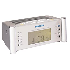 Sangean RCR-2 Digital Atomic Clock Radio with Dual Alarms