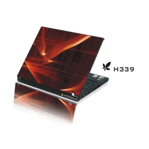 15.4 Laptop Notebook Skins Sticker Cover H339 Orange Red (Brand New with 2 FREE touch pad decals)