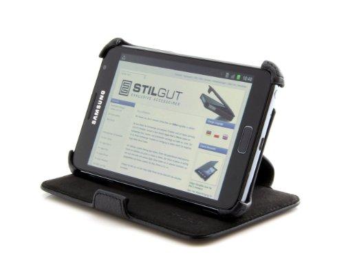 Custodia Stilgut per Samsung Galaxy Note versione v2(N7000) con funzione di supporto - colore nero -