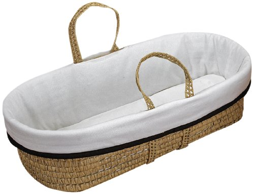 Baby Doll Bedding Forever Mine Moses Basket, Chocolate front-3332
